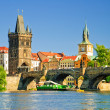 Old downtown of Prague - Stockfoto