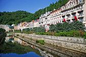 Landscape city center in Karlovy Vary — Stock Photo