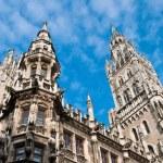 Town hall at the Marienplatz in Munich — Stock Photo