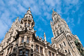 Town hall at the Marienplatz in Munich — Stock Photo