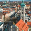 Stock Photo: View over the city of Munich