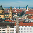 Panorama of Munich from the tower — Stock Photo #2664682