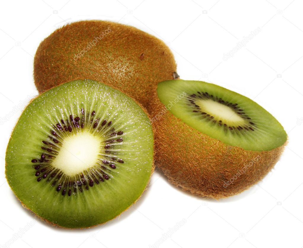 Kiwi fruit on a white — Stock Photo #1179842