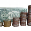 Dollar and coins - Stock Photo