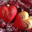 Heart Christmas Ornaments — Stock Photo