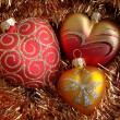 Royalty-Free Stock Photo: Heart  Christmas Ornaments