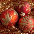 Red christmas balls — Stock Photo #1191943