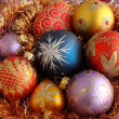 Many christmas balls — Foto Stock