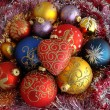 Many christmas balls — Stock Photo