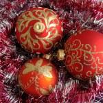 Red christmas balls — Stock Photo