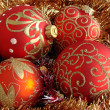 Red christmas balls — Stock Photo #1192389