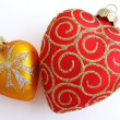 Stock Photo: Two hearts christmas ornament