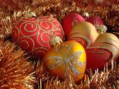 Srdce vánoční ozdoby — Stock fotografie