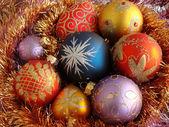 Many christmas balls — Stock Photo