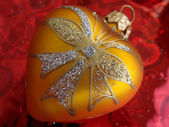 Ornamento de la navidad del corazón — Foto de Stock