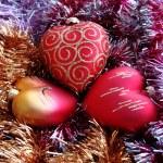 Vánoční ozdoba srdce — Stock fotografie