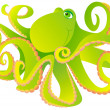 Green octopus - Stock Photo