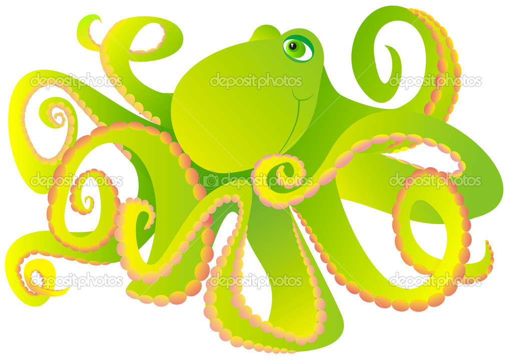 Octopus on a white background — Stock Photo #1279287
