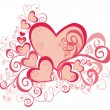 Valentines Day background with Hearts — 图库照片 #1494854