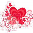 Valentines Day background with Hearts - 图库照片