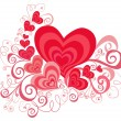 Valentines Day background with Hearts - Stockfoto