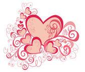 Valentin fond avec coeurs — Photo