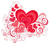 Valentines Day background with Hearts — Foto Stock