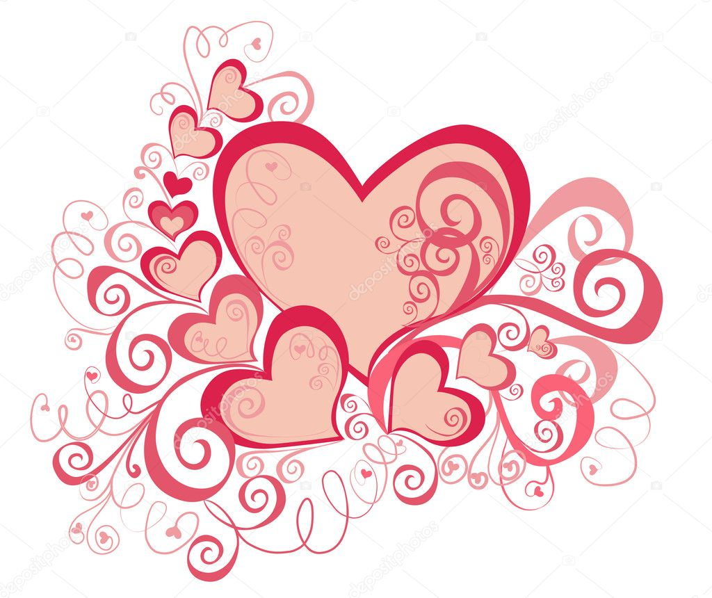 Valentines Day background with Hearts, element for design — Stock Photo #1494854