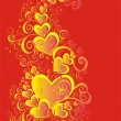 Stock Photo: Valentines Day background with Hearts