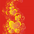 Valentines Day background with Hearts — Stock Photo #1574296