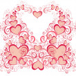 Foto de Stock  : Valentines Day background with Hearts