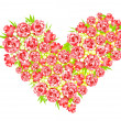 Stock Photo: Heart from roses