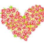 serce z róż — Zdjęcie stockowe