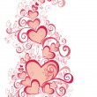 Foto Stock: Valentines Day background with Hearts