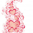 Valentines Day background with Hearts — Stock Photo #1574585