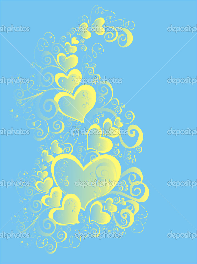 Valentines Day background with Hearts, element for design — Photo #1574314