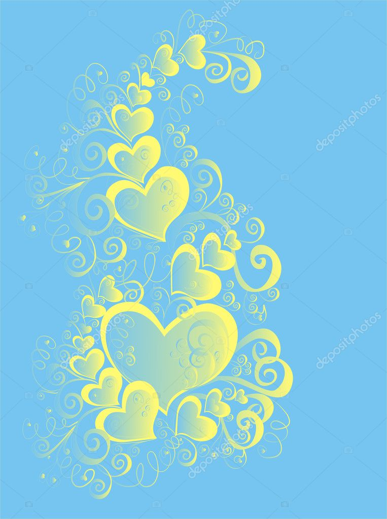 Valentines Day background with Hearts, element for design — 图库照片 #1574314