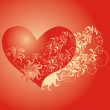 Valentines Day background whith heart - Stock Photo