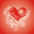 Stock Photo: Valentines Day background whith heart