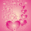 Valentines Day background whith hearts - Stock Photo