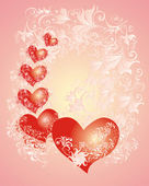 Valentines Day background whith hearts — Stok fotoğraf