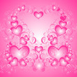 Valentines Day background whith hearts — 图库照片