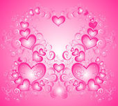 Valentines Day background whith hearts — Stock Photo
