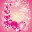 Vector Valentines Day background - Stockvectorbeeld