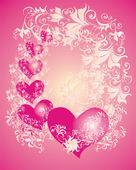 バレンタインデーの背景をベクトルします。 — ストックベクタ