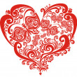 Stock vektor: Valentines Hearts with butterfly, vector