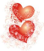 Vector de corazones, fondo de la boda — Vector de stock
