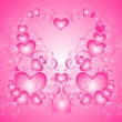Stock Vector: Vector valentines background with hearts