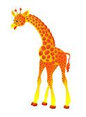 Giraffe, vector illustration — Stock Vector