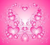 Vecteur valentines fond avec coeurs — Vecteur